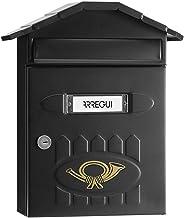 Arregui Villa E5004 Individuele brievenbus van staal, maat M (DIN A4), gestructureerd zwart, 36 x 29,8 x 12 cm
