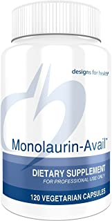 Designs for Health Monolaurin-Avail - 1000mg Glycerol Monolaurate + Vitamin C Immune Support (120 Capsules)
