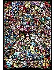 1000ピース ジグソーパズル ディズニー&ディズニー ピクサー ヒロインコレクション ステンドグラス【ピュアホワイト】(51x73.5cm)