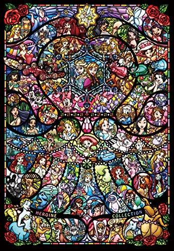 1000 Stück Puzzle Disney & Disney Pixar Heroine Collection Buntglas [Pure White] (51 x 73,5 cm)