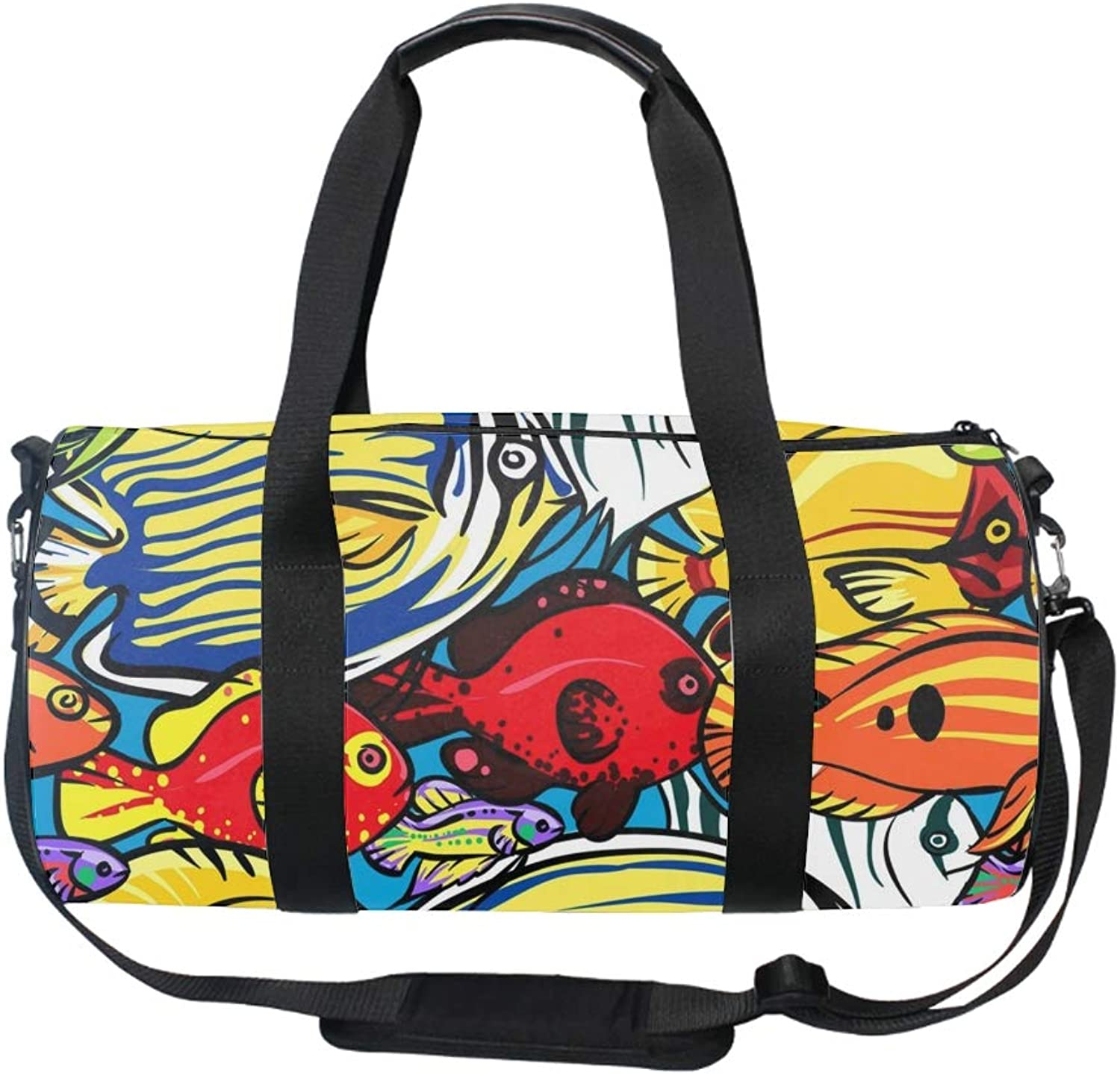17  Blank Sports Duffle Bag Coral Reef Sea Life Gym Bag Travel Duffel with Adjustable Strap