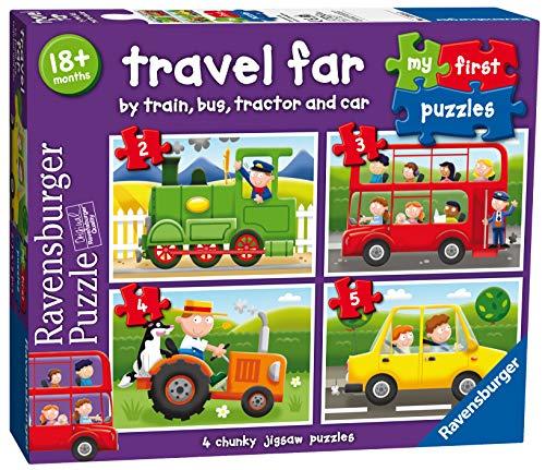 Ravensburger Italy- My First Puzzle 2-3-4-5 Pezzi Veicoli Mezzi di Trasporto, 07303