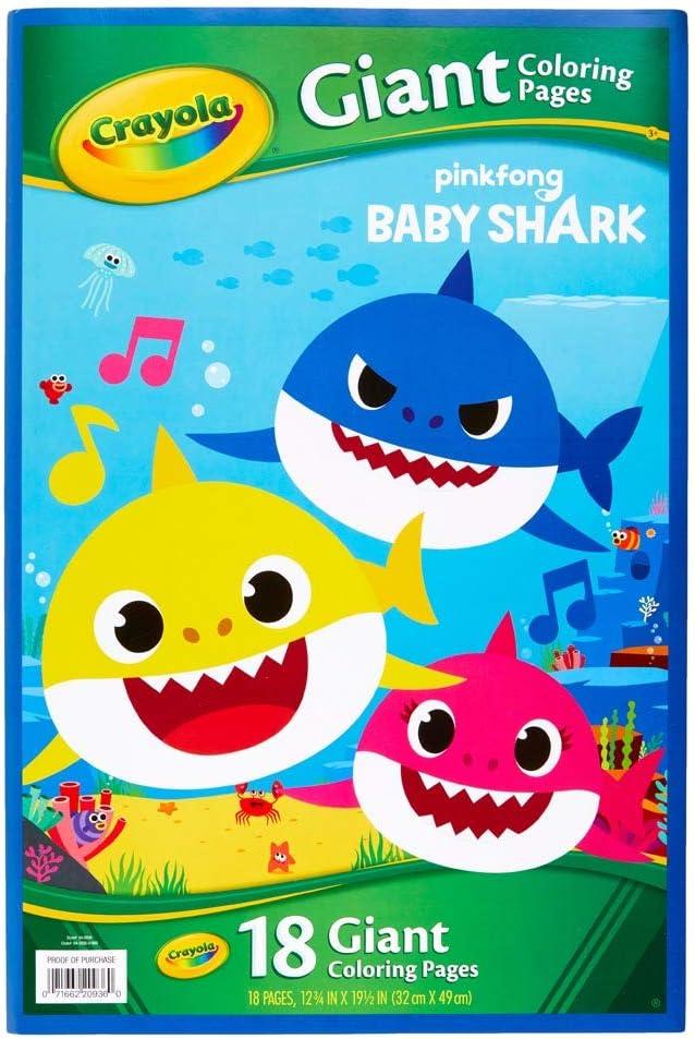Amazon Com Crayola Giant Baby Shark Giant Coloring Pages Electronics