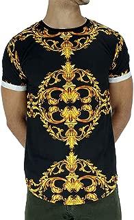 Uniplay Men's Designer Italian Short Sleeve T-Shirts, Black