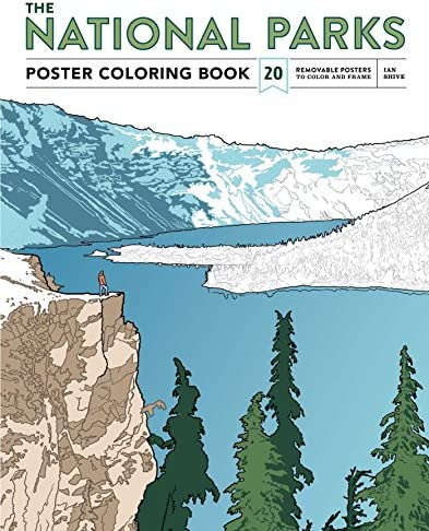 The National Parks Poster Coloring Book 20 Removable Posters to Color and Frame product image