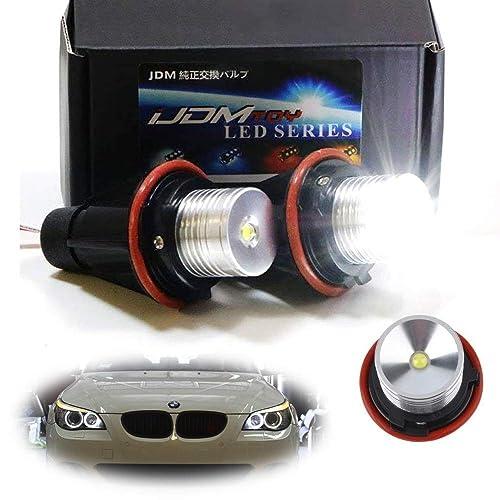 iJDMTOY (2) White LED Angel Eye Ring Marker Bulbs For BMW 5 6 7
