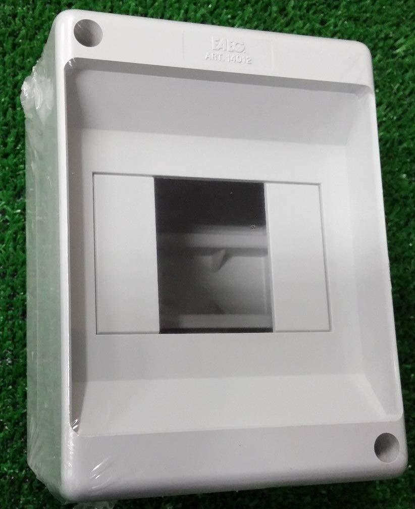 caja eléctrica 2/4 Módulos IP20 diferencial interruptor calota: Amazon.es: Bricolaje y herramientas