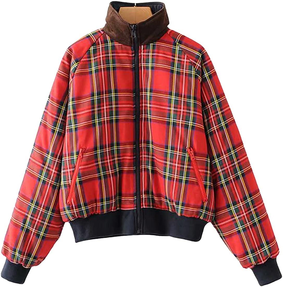 Omoone Women's Puffer Down Coat Casual Padded Full Zip Short Bubble Thicken Jacket Outwear