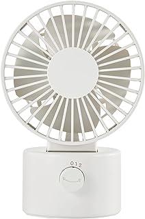 無印良品 USBデスクファン(低騒音ファン・首振りタイプ) 白 約幅10.2×奥行8×高さ15.1cm MJ‐9ZF021CZ03 82150513
