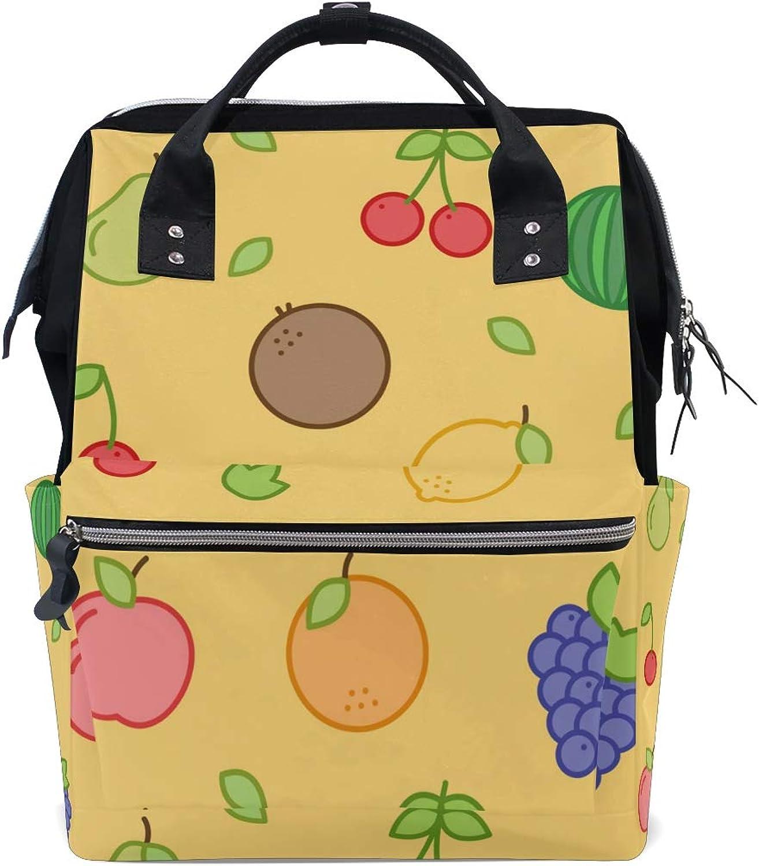 caf60122ade9 DEZIRO Canvas School Pack Backpacks Travel Bag Cute Fruits nunlak679 ...