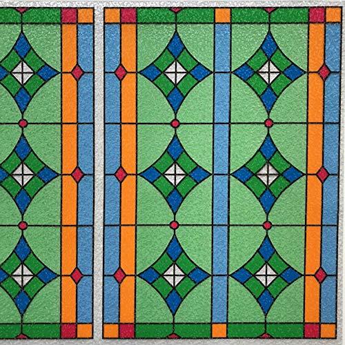 Dekorfolie statische Fensterfolie Abbey Meterware Buntglasfolie