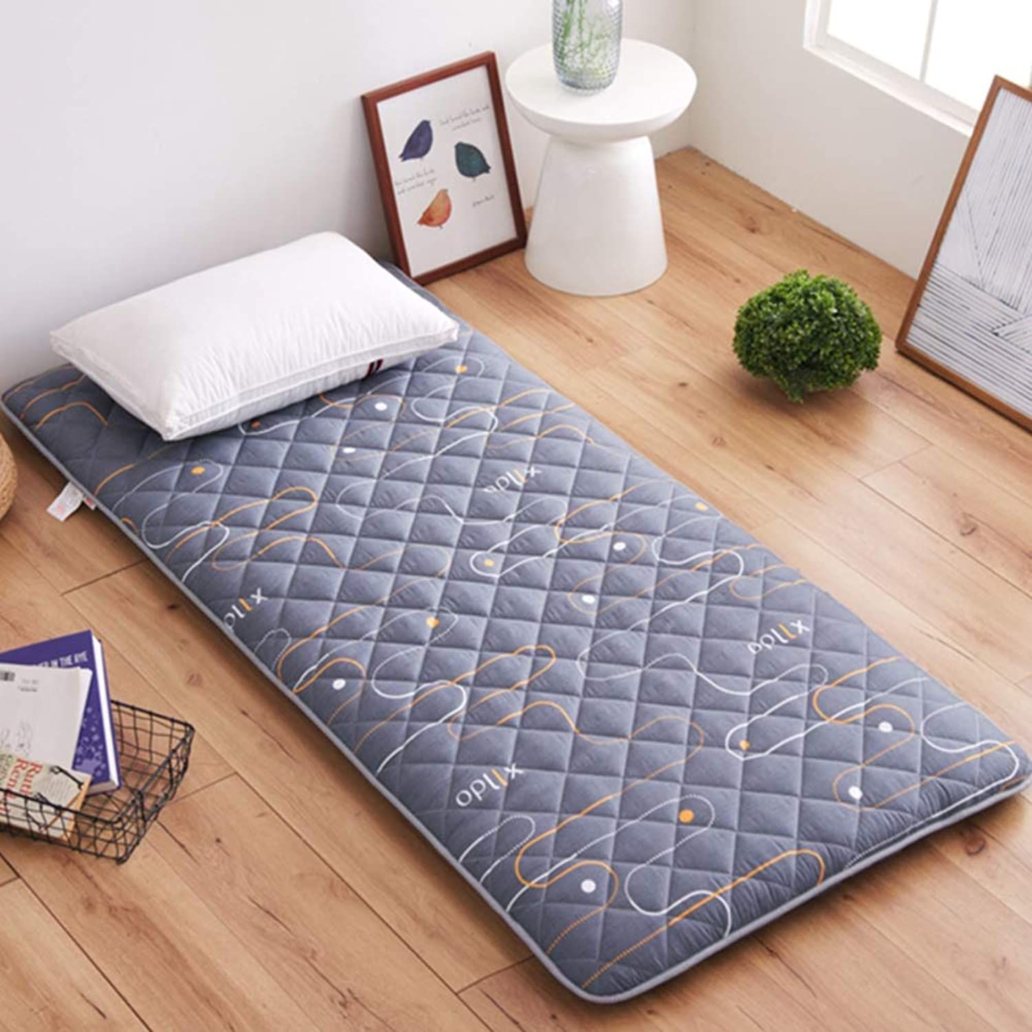 Breathable Floor Futon Mattress Mat, Tatami Foldable Breathable Multi Size Japanese Mattress Pad Topper for Student Dormitory -e King