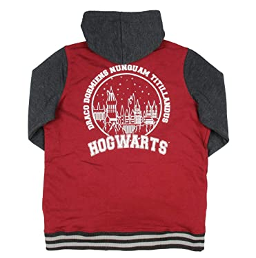 Harry Potter Hogwarts Crest Hooded Juniors Varsity Jacket