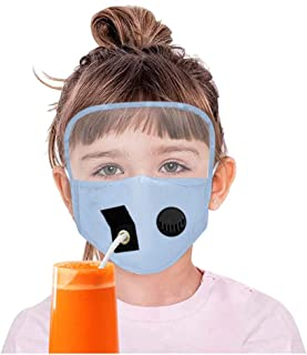 Kids Boys Girls Protect Dustproof Eyes Shield Breather Drinking Hole Straw Mask