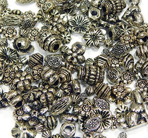 Expreso Bastel juego incluido 2 creaci/ón de joyas plata antigua medall/ón colgantes con forma de coraz/ón ojeteador collares y adhesivo cristal Cabochon cubre 25 mm
