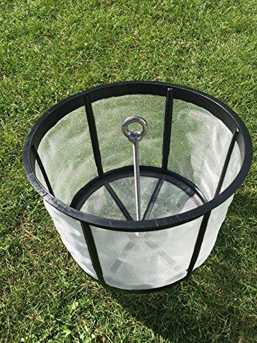 Filterkorb Regenwasserfilter aus PE mit Entnahmestange Domsieb