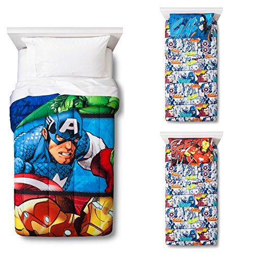 Marvel Avengers Reversible Comforter, Sheets and Pillow Case 4-pc. Set - Kids