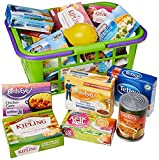 Casdon Shopping Basket   Colourful Toy Shopping Basket For Children Aged 3+   Comes With Miniature Versions Of Popular Branded Foods!