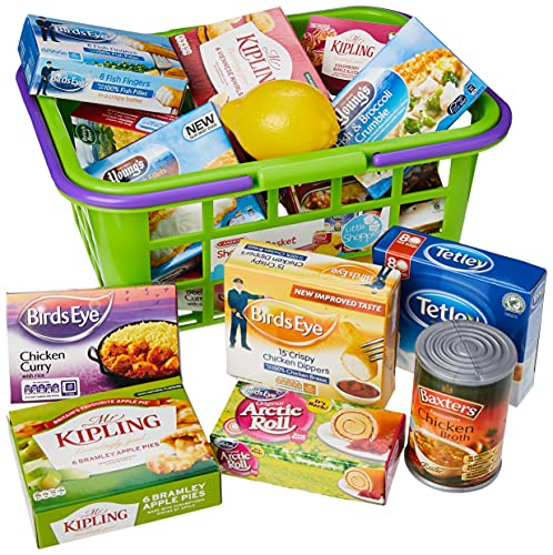 Casdon 628 Shopping Basket with Food, Assorted Colours