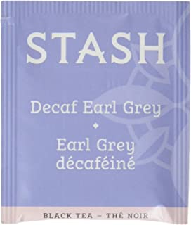 Stash Tea Decaf Earl Grey Tea 100 Count Tea Bags in Foil (packaging may vary) Individual Decaffeinated Black Tea Bags for Use in Teapots Mugs or Cups, Brew Hot Tea or Iced Tea