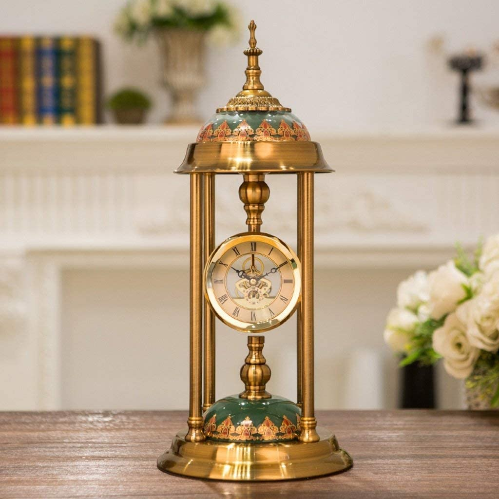 Tulsa Mall MKKM Home Living Room Wall Clock-Metal Clock Sale special price American D Bedside