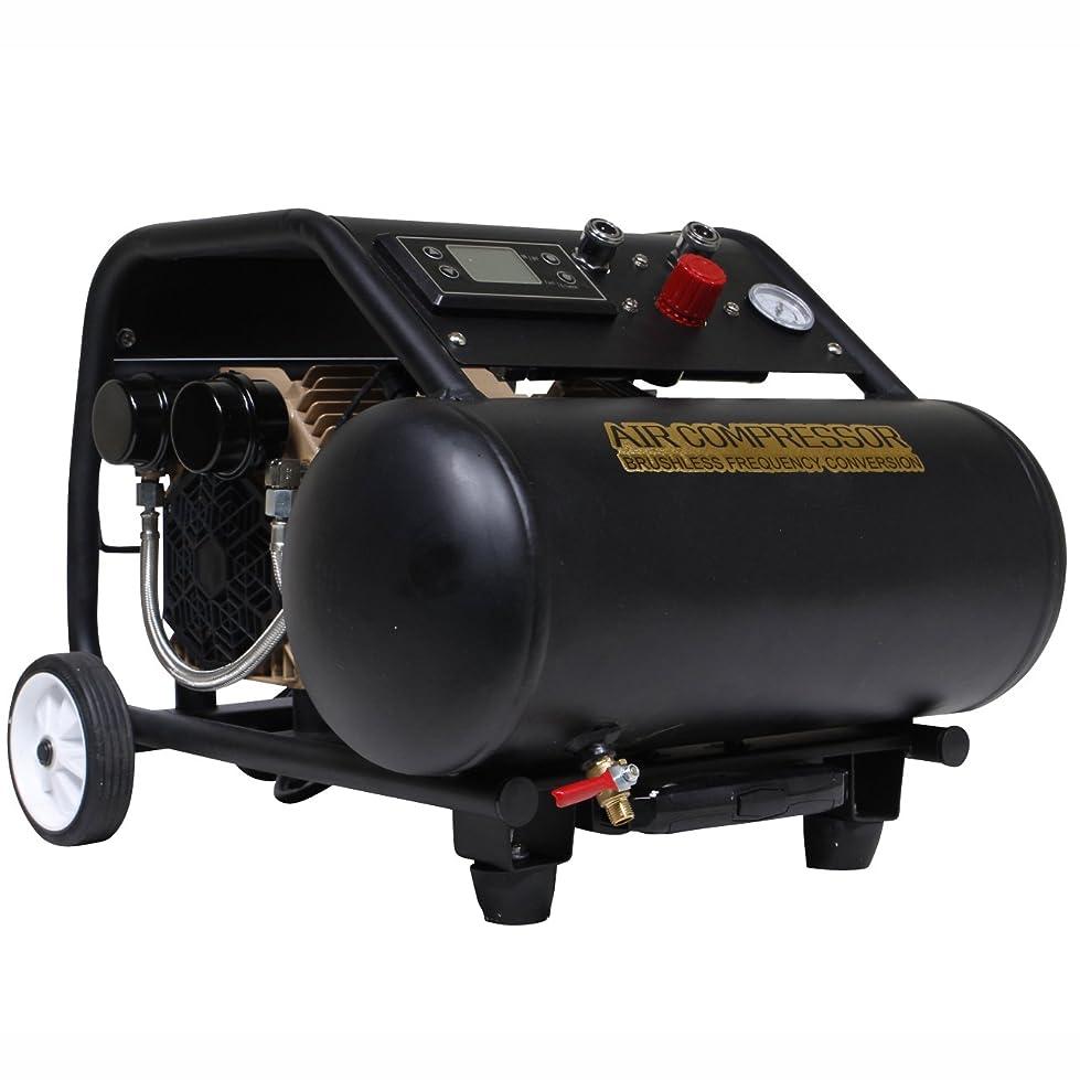 シンジケート適合独裁HAIGE エアーコンプレッサー 100V オイルレス 静音 17Lタンク ブラシレス 最大圧力1.2Mpa HG-DC990K
