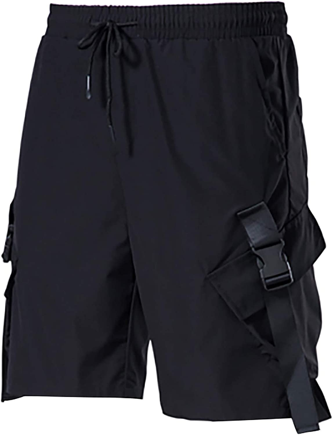 Tantisy Mens Casual Relaxed-fit Ultra Soft Sports Shorts Slim Elastic Waistband Cargo Shorts Tall Size Gym Track Shorts