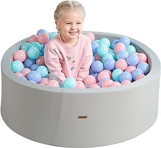 TRENDBOX Soft Foam Sponge Indoor Round Ball Pit NOT Include Balls Ball Pool Baby Playground - Gray