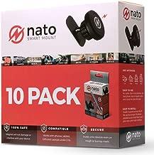 Nato Smart Mount - Magnetic Smart Device Holder Universal Adhesive (Black 10-Pack)