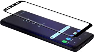ギャラクシーS9と互換性のあるStilGutスクリーンプロテクター、ブラックフレーム付きフルカバレッジエッジツーエッジ、2パック
