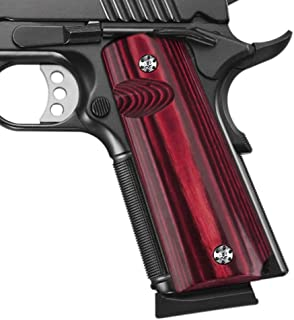 Cool Hand 1911 Full Size High Polished Wood Grips, Screws Included, Mag Release, Ambi Safety Cut