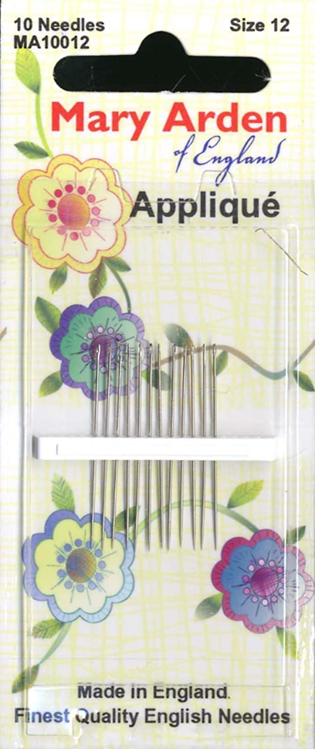 Colonial Needle 10 Count Mary Arden Applique Needles, Size 12