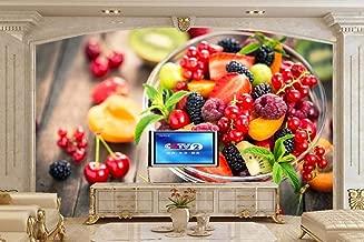3D Berry Cherry Raspberry Fruit Food Wallpaper Restaurant Cafe Restaurant Living Room TV Wall Kitchen Custom Mural