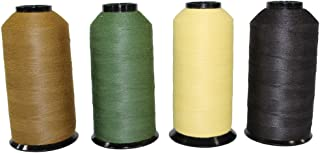 Kevlar Thread Sewing Size 30/3 - SGT KNOTS - 3 Ply Military Grade - Clothing, Leather, Canvas, Gear & Boot Stitching Repair - Crafting, DIY Projects, Commercial, Industrial (4 oz, Coyote Brown)