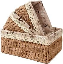 Paper rattan woven storage basket ,Storage Organizer Basket Bin , Snacks, Key, cosmetic storage basket,Woven Decorative Ho...