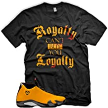 New ROYALTY T Shirt for Jordan 14 XIV Yellow Ferrari Carmelo 13