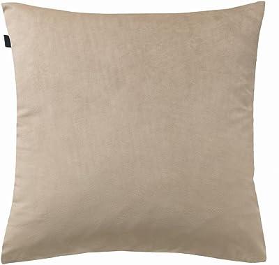 Joop! Housse de coussin Crossed - Couleur sable - 45 x 45 cm - En micro-velours - Brodée