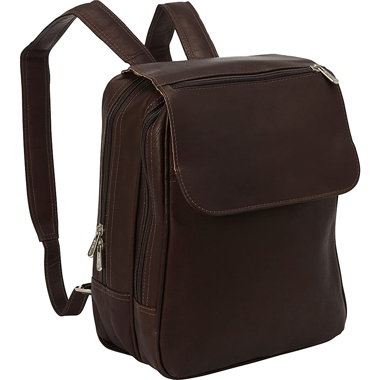 Piel Leather Flap-Over Tablet Backpack, Chocolate