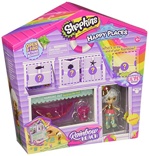 Shopkins Happy Places Rainbow Beach Furniture Set - Hanging Out