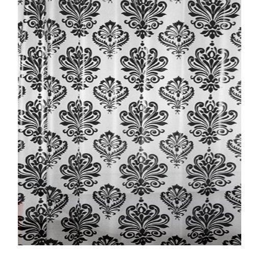 cortinas ducha blanco y negro