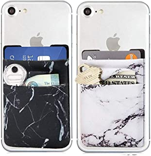 Card Holder for Back of Phone,Phone Wallet Sticker,Stretchy Adhesive Stick on Pocket for Credit Card,Business Card,ID,Cash,Fit for Almost All Smartphones & Cases