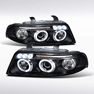 Autozensation For Audi A4 S4 B5 Black LED Halo Projector Headlights