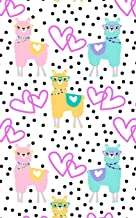 Llama Notebook: Cute Llamas Wearing Glasses, Hearts and Polka Dot Pattern Lined Composition Journal - Pink Blue Yellow Black Note Pad with Lines for Girls Boys Teens Kids Men Women - Size 5x8