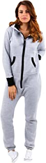SKYLINEWEARS Women's Ladies Onesie Hoodie Jumpsuit Playsuit