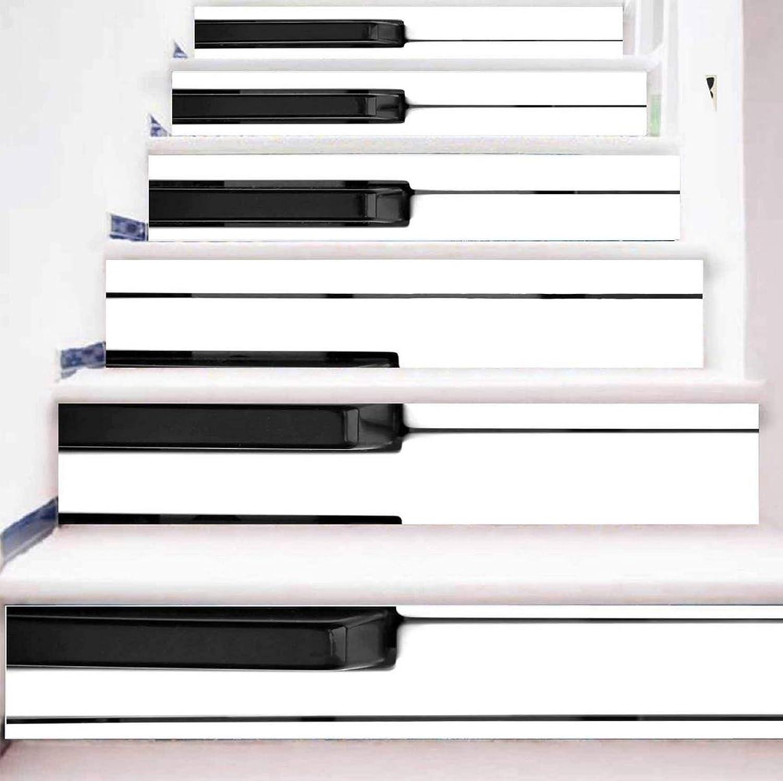 TIEZHI 3D DIY Klaviertasten Treppen-Aufkleber Wasserdicht Haus Dekoration Umweltschutz Wandtattoos, 1 Set 6 pcs, 100  18cm B07C1XW7DJ | Mama kaufte ein bequemes, Baby ist glücklich