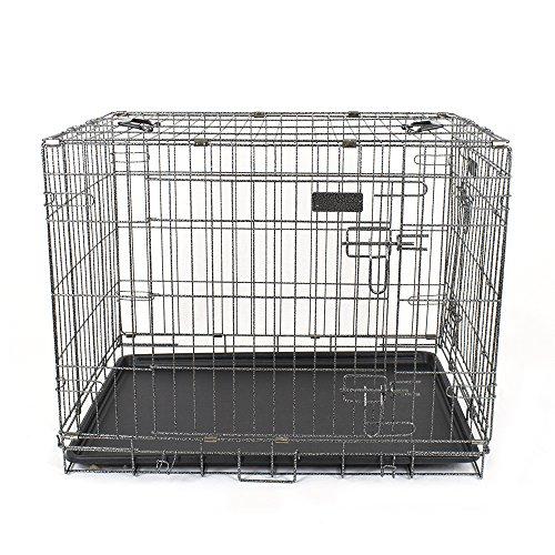 Pet's Solution Gabbia Pieghevole per Cani Box trasportino Cani L 92x60x68h cm