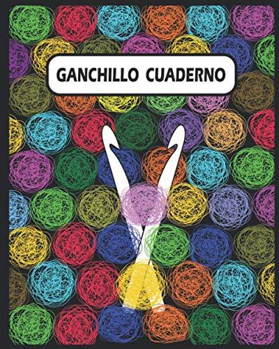 GANDCHILLO CUADERNO: Papel cuadriculado y cuaderno de páginas en blanco para crochet fácil tomar notas Para principiantes . Tamaño 8x10 pulgadas con 121 páginas