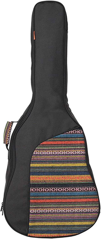 ZDAMN Bolsa de Guitarra Guitarra acústica clásica Bolsa de la Caja Mochila Correa de Hombro Ajustable portátil 10mm Accesorios for Guitarra Acolchado Grueso Funda de Guitarra