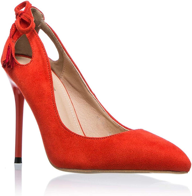 Women Pumps Elegant Bow-Knot Tassel High Heels Slip-On Wedding Lady shoes Chaussure Femme orange,5.5