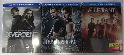 The Divergent Series Limited Edition Steelbook Trilogy: Divergent, Insurgent, Allegiant (Blu-Ray + DVD + Digital HD)